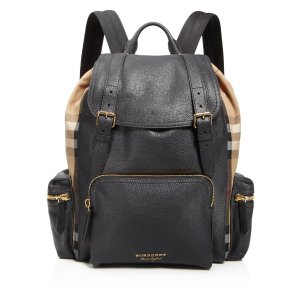 Burberry Grainy Leather House Check Rucksack | Bloomingdale's