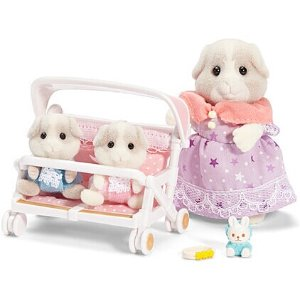 Calico Critters Patty & Padens Double Stroller Set | zulily