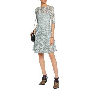 Gathered lace mini dress GANNI