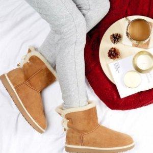 $99UGG Australia Selene Genuine Lamb Fur Lined Boot