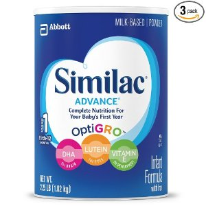 Similac Advance 雅培婴儿1段配方奶粉2.25磅(3罐装)