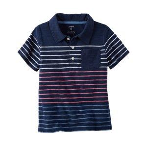 Baby Boy Striped Slub Jersey Polo | Carters.com