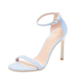 Stuart Weitzman Braids Ankle-Wrap Sandal