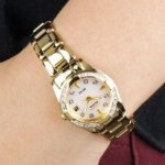 Citizen EW1822-52D Regent Collection 28 Diamond Accents with Eco-Drive Gold-Tone Stainless Steel Women's Watch