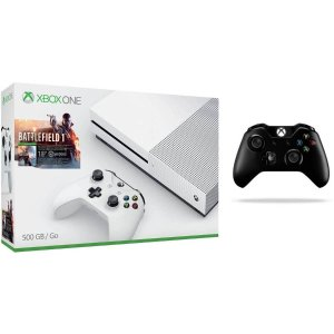 Xbox One S Battlefield 1 Bundle (500GB) With Extra Xbox Wireless Controller (Black)