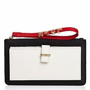 kate spade new york Carolina Be Mine Saffiano Leather Wristlet | Bloomingdale's
