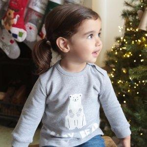 Gray 'Baby Bear' Christmas Jumper