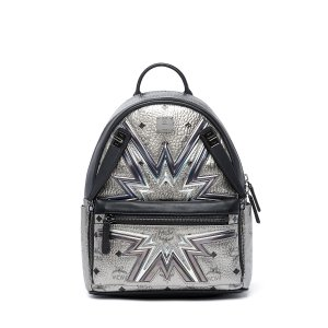Small Dual Stark Cyber Flash Backpack in Silver