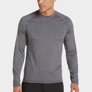 Joseph Abboud Charcoal Long Sleeve Activewear Shirt - Men's Active & Performance | Men's Wearhouse