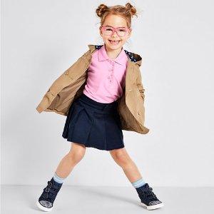 Toddler Girls Uniform Short Sleeve Ruffle Placket Pique Polo   The Children's Place
