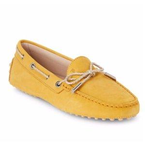 Tod's - Metallic-Trim Boat Shoes - saksoff5th.com