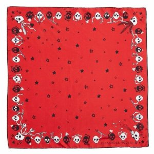 Party Skull Silk Square Scarf