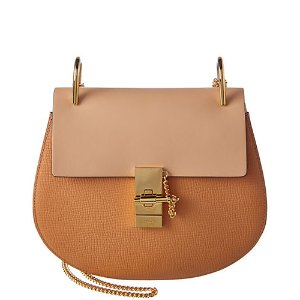 Chloé Drew Small Bicolor Leather Chain Shoulder Bag