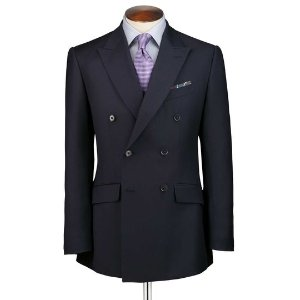 Navy slim fit double breasted twill business suit | Charles Tyrwhitt