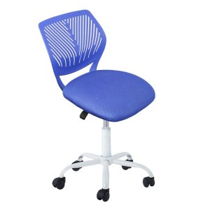 As low as $23.99Computer Chair Mid Back Swivel Office Task Chair Teen Desk Chair Home Kids Study Chair (Blue)