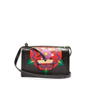 Loewe Barcelona floral-print small leather shoulder bag