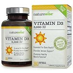 NatureWise Vitamin D3 5,000 IU for Healthy Muscle Function, Bone Health and Immune Support, Gluten Free & Non-GMO in Cold-Pressed Organic Olive Oil,360 count