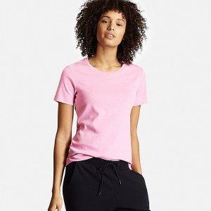 Women Supima® Cotton Crew Neck T-Shirt