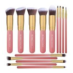 BS-MALL New 14 Pcs Makeup Brushes Premium Synthetic Kabuki Makeup Brush Set