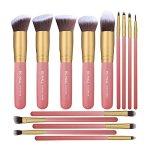 BS-MALL New 14 Pcs Makeup Brushes Premium Synthetic Kabuki Makeup Brush Set