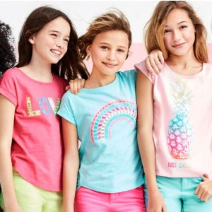All Short Sleeve Graphic Tees $3.9950-60% Off Everything + Free Shipping @ Children's Place