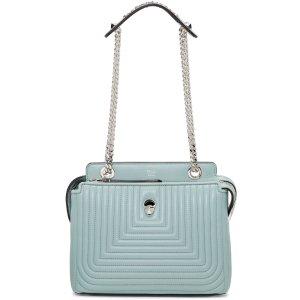 Fendi: Blue Small Dotcom Click Bag
