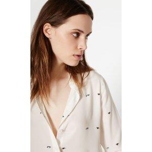 Women's KATE MOSS SLIM SIGNATURE CLEAN SILK SHIRT made of Silk | Women's Kate Moss by Equipment