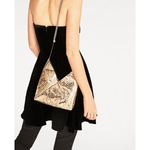 GOLDEN LEATHER BUCKET BAG - View all-BAGS-WOMAN | ZARA United States