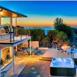 $517起 全景海边日出日落加州圣地亚哥 海景独栋度假别墅 可入住10人