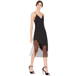 Evalee Side Slit Midi Slip Dress | Alice + Olivia