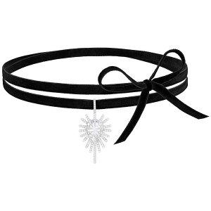 Swarovski | Hippy Choker, White, Rhodium plating