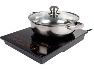 $40Rosewill 1800-Watt Cooktop with Stainless Steel Pot