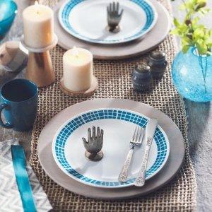 Corelle Livingware Aqua Tile 16-Piece Dinnerware Set - Walmart.com