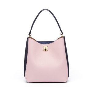 Large Milla Hobo in Pale Mauve by MCM