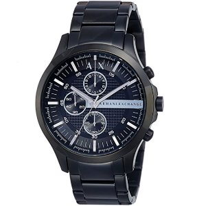 $104.99 (Orig $210) Lowest priceArmani Exchange Men's Large Black Chronograph Watch