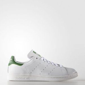 adidas Originals Men's Stan Smith Leather White/Green Athletic Sneakers | eBay