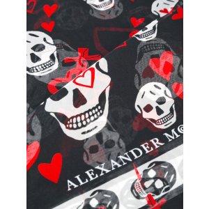 Alexander McQueen Skull And Heart Print Scarf - Farfetch