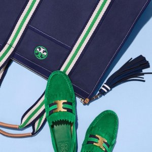 Embroidered-T Bag @ Tory Burch