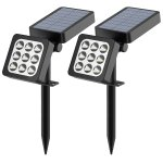 Aptoyu Solar Spotlights 2-in-1 Waterproof Outdoor Landscape Lighting