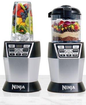 $79.93+送$15礼卡Ninja Nutri Bowl DUO with Auto-iQ Boost 食物搅拌机套装