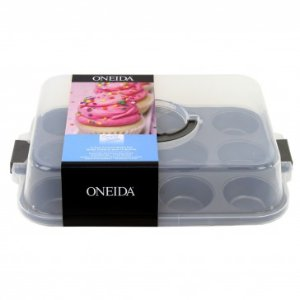 Oneida Simply Sweet 12 cup Covered Muffin Pan w/ handle, Set of 2 - Spring Cleaning - Sale