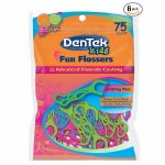 DenTek Fun Flossers for Kids, Wild Fruit Floss Picks,Easy Grip for Kids,75 Count (pack of 6)
