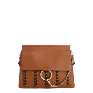 Chloé Faye Calfskin Leather & Suede Shoulder Bag   Nordstrom