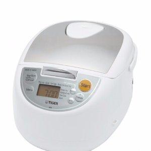 $84.99Tiger JBA-T10U-WY Micom 11 Cup Rice Cooker w/ Food Steamer & Slow Cooker (White)