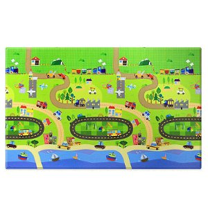 "As Low As $71.99BABY CARE™ Large Baby Play Mat in Happy Village 82""*55"""