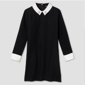 Girls' Black Collared Dress - Victoria Beckham for Target