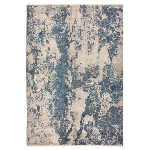 Contemporary Silk & Wool Rug - 5'5