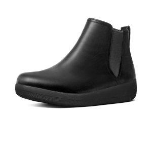 FitFlop Superchelsea Leather Chelsea Boots Black