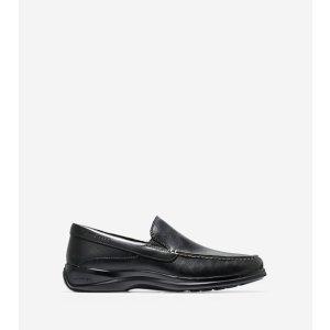Men's Santa Barbara Twin Gore Loafers in Black   Cole Haan