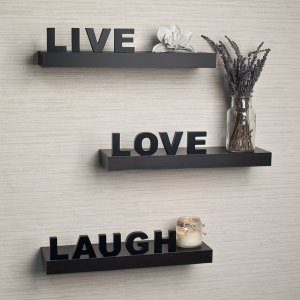 'Live, Love, Laugh' 搁板3件套